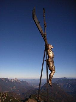 Summit Cross, Summit, Jesus, Cross, Sky, Mountains