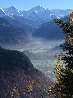 Alpine, Unterland, Mountains, Interlaken, Monk, Virgin