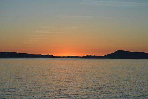 Sunset, Water, Washing, Sea, Summer, Ocean, Travel, Sky