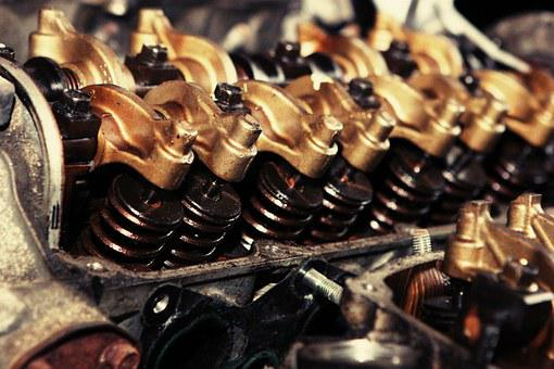 Cylinders, Engine, Oil, Machine, Industry, Metal, Motor