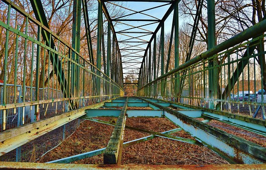 Bridge, Viaduct, Old Bridge, Dilapidated, Dismantled
