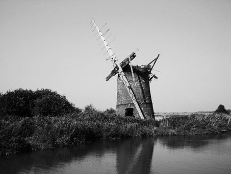 Windmill, England, Old, Historical, Architecture