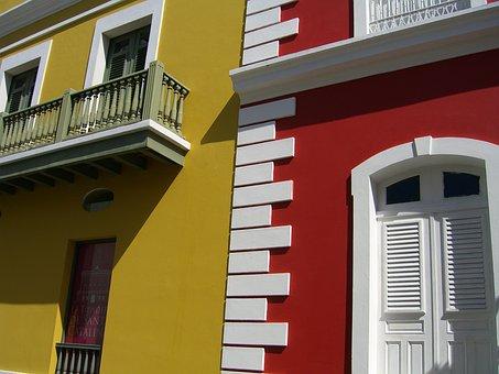 Puerto Rico, Old San Juan, Architecture, Doors, Windows