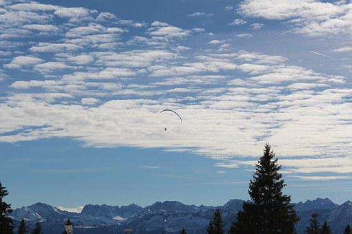 Paraglider, Mountains, Fly, Paragliding, Mountain