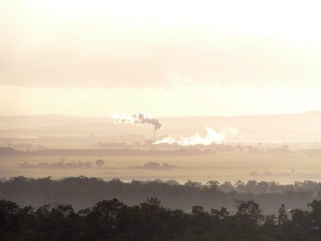 Pollution, Sunset, Air Pollution, Power, Chimney
