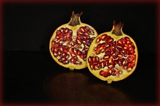 Pomegranate, Fruit, Urapfel, Red, Pomegranates, Healthy