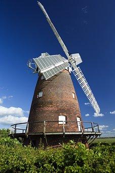 Thaxted, Essex, England, Restored Windmill