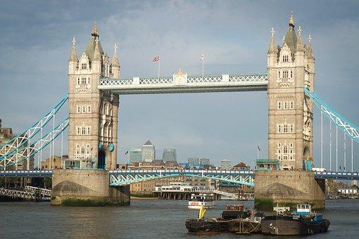 London, Tower Bridge, Thames, River, River Thames