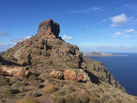 Cape Skaros, Skaros, Santorini, Imoravigli, Greece