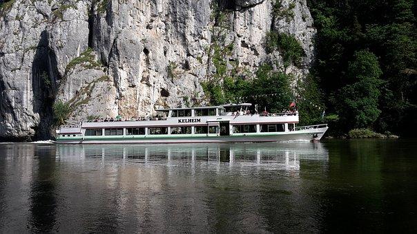 Danube, Shipping, River, Danube Gorge, Weltenburg
