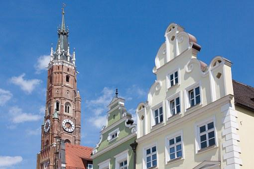 Steeple, Gothic, Facades, Renaissance, Landshut