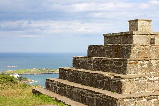 Pyramid, Steps, Stone, Ancient, Historic, Ocean, Sea