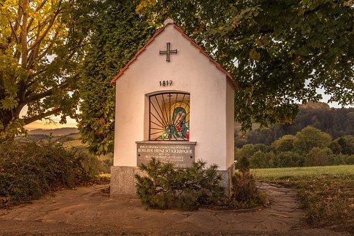 Chapel, Church, Christ, Mood, Sun, Evening, Autumn