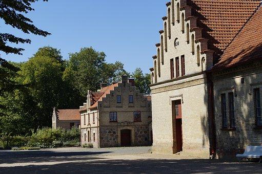 Manor, Homes, Sweden, Schlosshof, Building, Hof