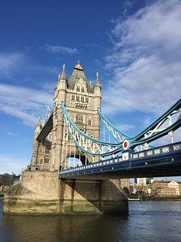 London, Tower Bridge, River, Thames, Landmark, Uk