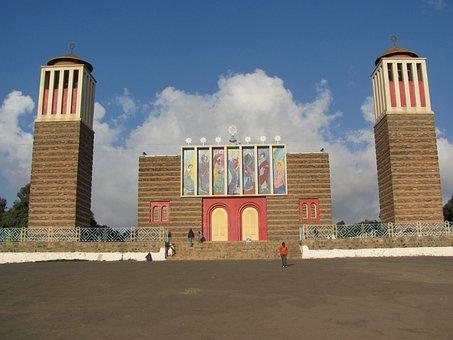 Eritrea, Building, Towers, Church, Faith, Religion