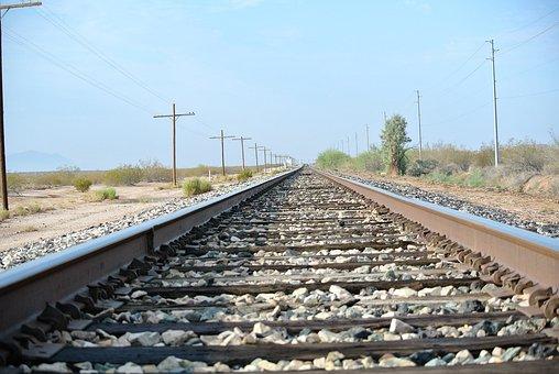 Train Track, Railroad Tracks, Railroad, Transportation