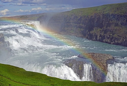 Gullfoss, Waterfall, Iceland, Force Of Nature, Enormous