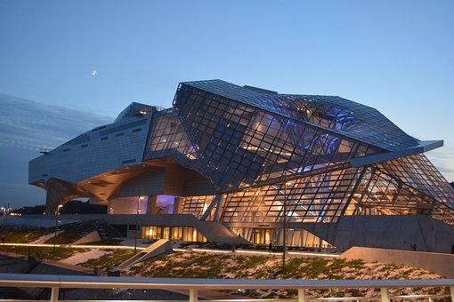 Musée Des Confluances, Architecture, Lights, Atmosphere