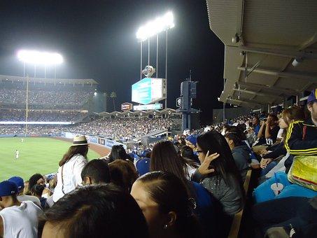 Dodgers, Baseball, Stadium, Fans, Los Angeles, Field