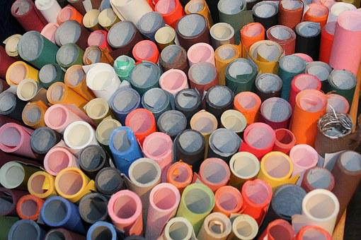 Circles, Bogbinderlærred, Rolls, Gift Wrap, Binding