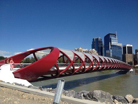 Calgary, Alberta, Canada, Urban, Bow, City, Modern