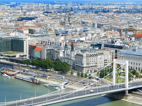 Scape, Budapest, Hungary, Buildings, Elizabeth Bridge