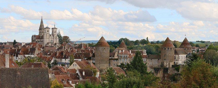 Semur In Auxois, City, Burgundy, Church, Castle