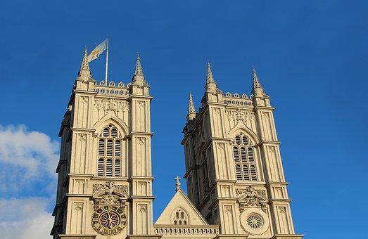 London, England, Church, Heaven, Sky, Clouds, Cloud
