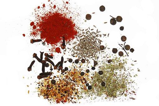 Spices, Caraway, Seeds, Cumin, Pepper, Cloves