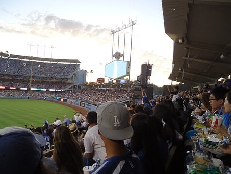 Dodgers, Baseball Stadium, Baseball, Stadium