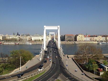 Elizabeth Bridge, Bridge, Budapest, Scape, Hungary