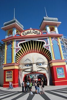 Luna Park, St Kilda, Entertainment, Entrance, Park