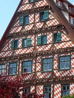 House, Building, Fachwerkhaus, Ulm, Historic Center