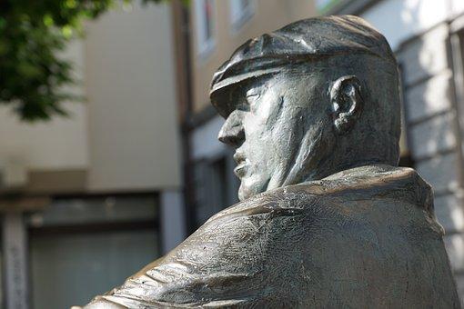 Statue, Face, Tuttlingen, Fig, Head, Man, Work, Art