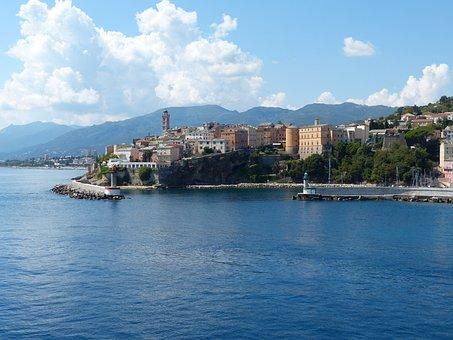 Corsica, Bastia, Historic Center, Island, France, Sea