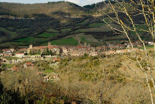 France, Holy Eulalie Of Cernon, Medieval Village