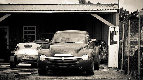 Cars, Vintage, Garage, Driveway, Automotive