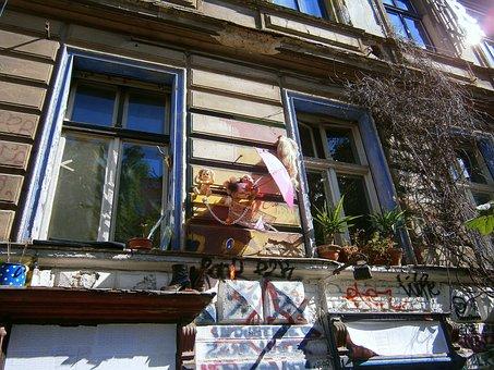 Home Front, Window, Colorful, House Facade, Hausdeko