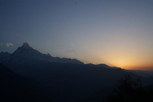 Himalayas, Nepal, Mountain, Mountains, Summit Pyramid