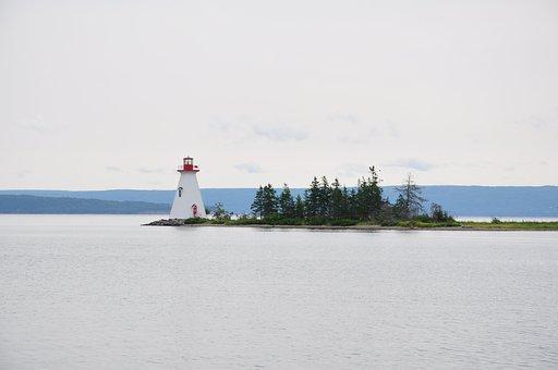 Lighthouse, Port, Island, Water, Sea, Lake