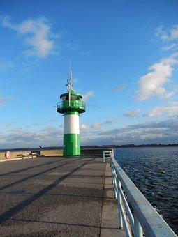 Lighthouse, Baltic Sea, Travemünde, Harbour Entrance