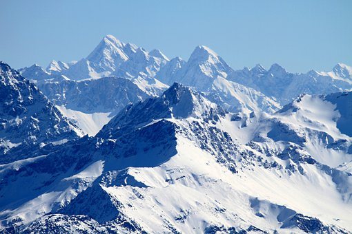 Mountains, Alpine, Switzerland, Snow, Rock
