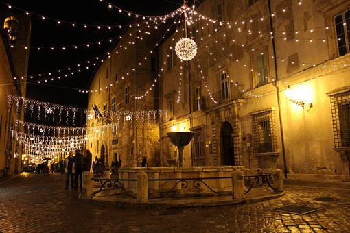 Narni, Night, Narnia, Medieval, Fountain, Italy, Town