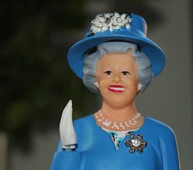 Queen, Fig, Wave, England, Blue, Elizabeth