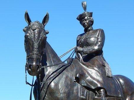 Queen Elizabeth, Statue, Queen, Sculpture, Horse