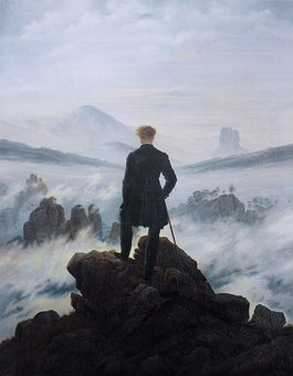 Self Portrait, Wanderer Above The Sea Of Fog