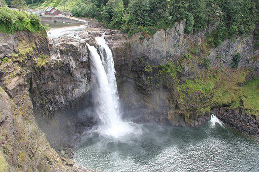 Snoqualmie Falls, Waterfall, Snoqualmie, River