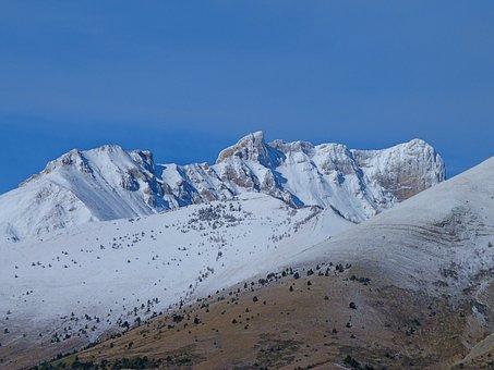 Alps, Mountain, Winter, Paysagem, Nature, Snow, Hiking