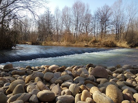 Park, River, River Iregua, Logroño, La Rioja, Spain